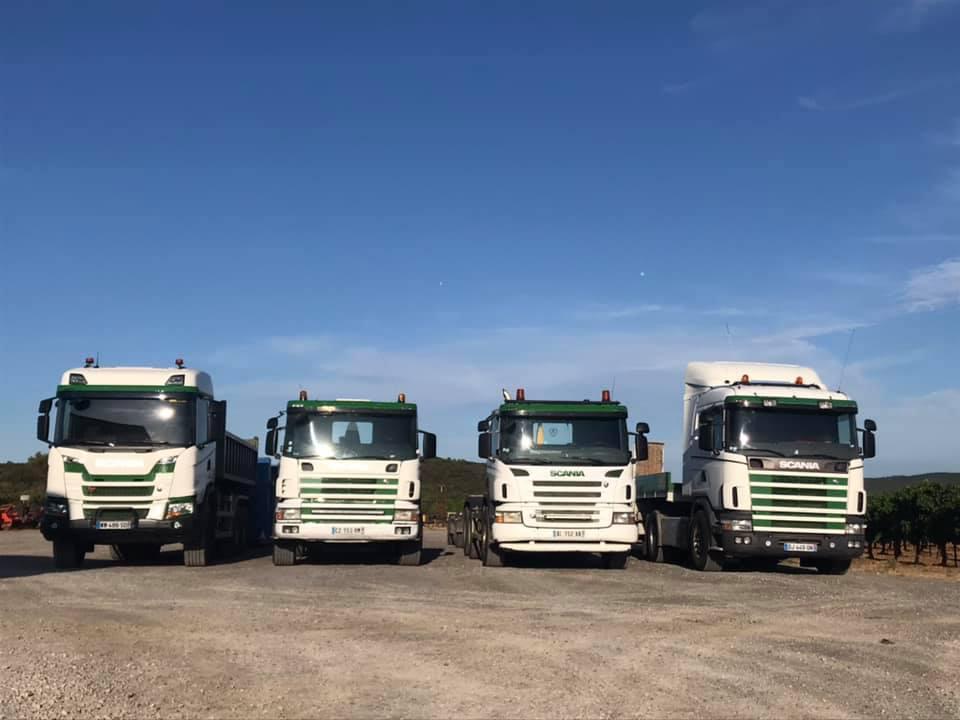 Notre flotte de camions de transport