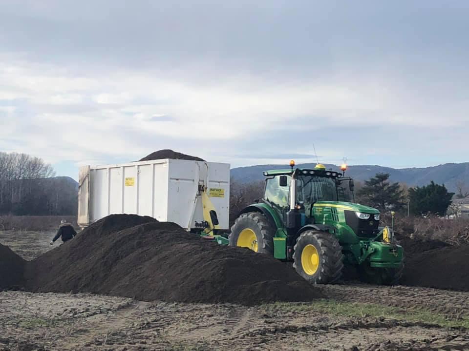 Transport de récolte et composte