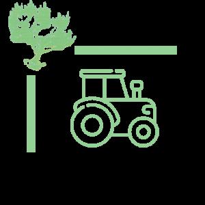 icone tracteur vert de nature Languedoc